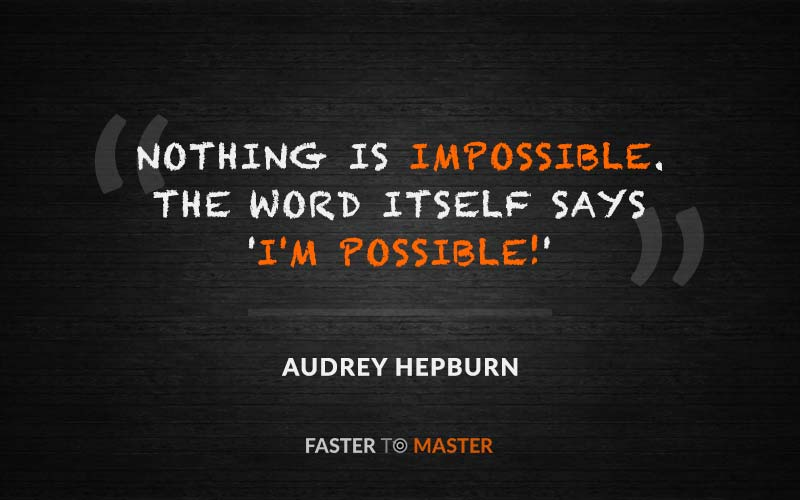 Growth Mindset Quotes - Audrey Hepburn