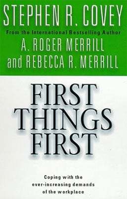 Best Productivity Books: First Things First